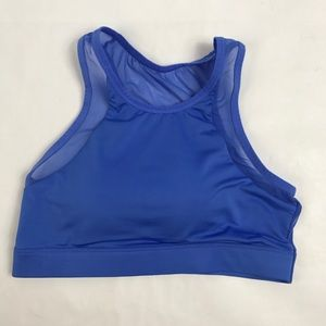 Cute Periwinkle Sports Bra Breathable Razor Back M